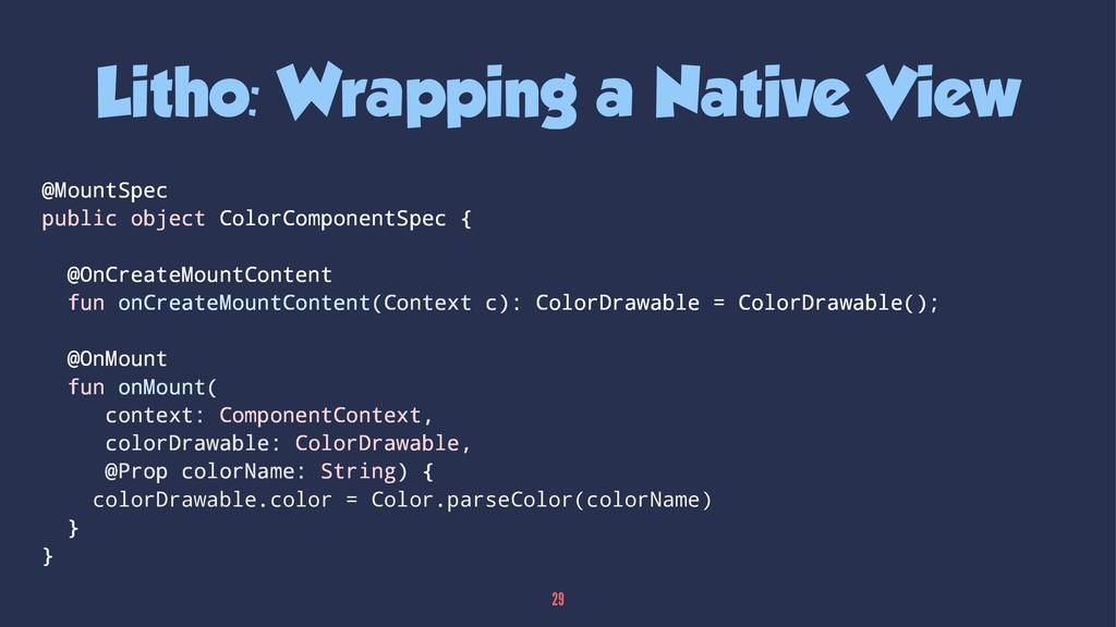 Litho: Wrapping a Native View @MountSpec public...