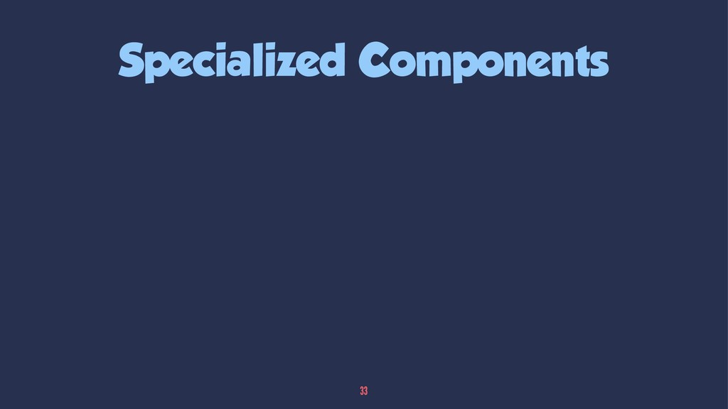 Specialized Components 33