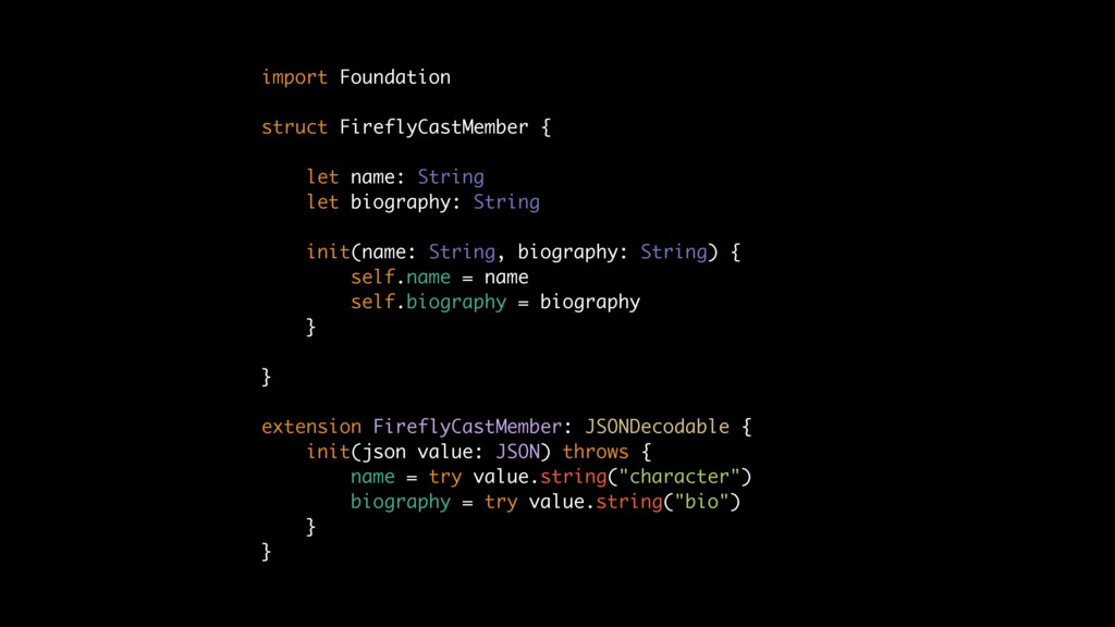 import Foundation struct FireflyCastMember { le...