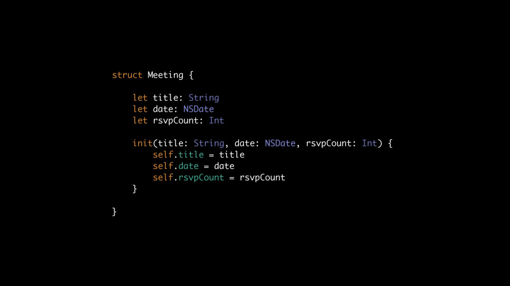 struct Meeting { let title: String let date: NS...