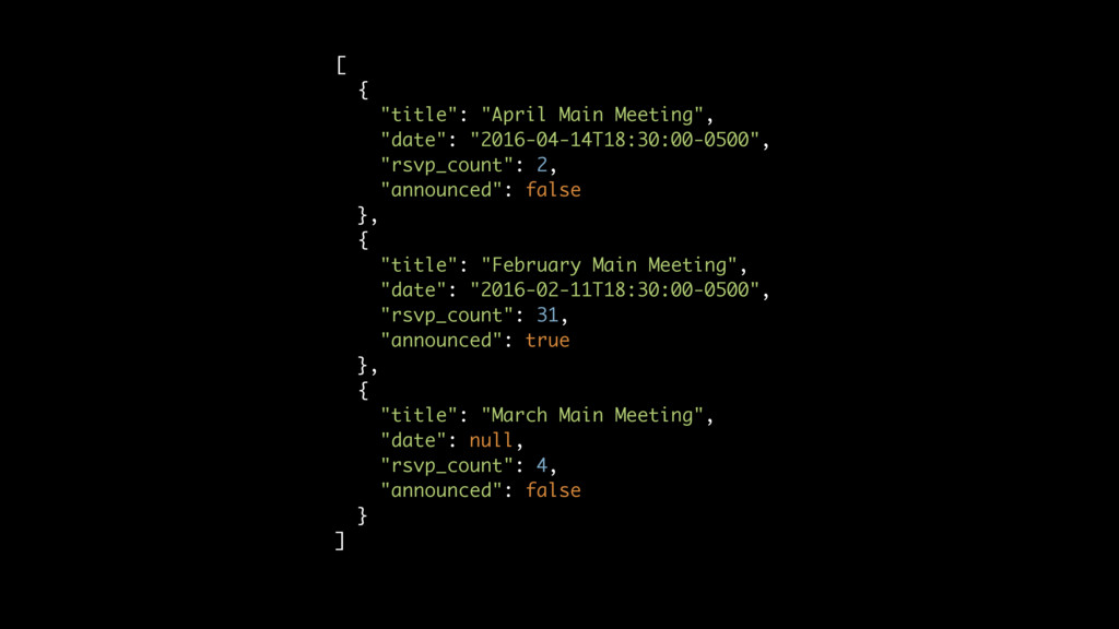 "[ { ""title"": ""April Main Meeting"", ""date"": ""201..."