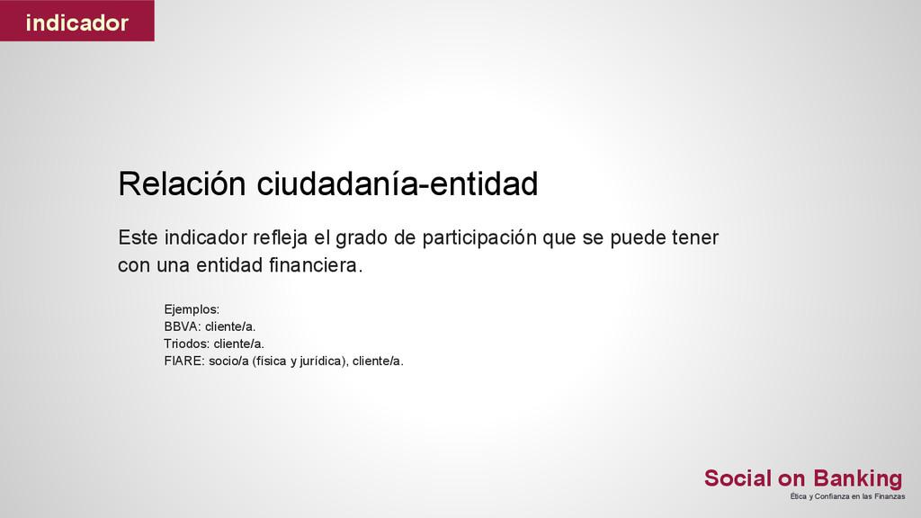 Social on Banking Ética y Confianza en las Fina...