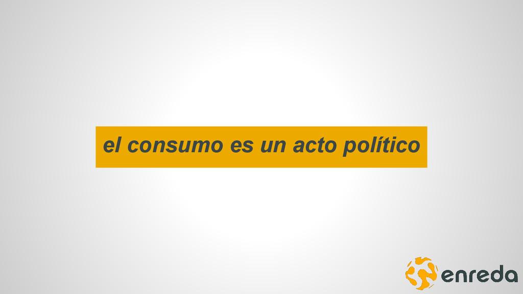 el consumo es un acto político