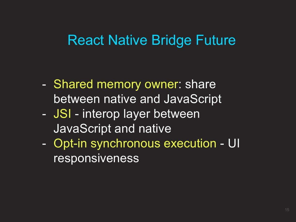 - Shared memory owner: share between native and...