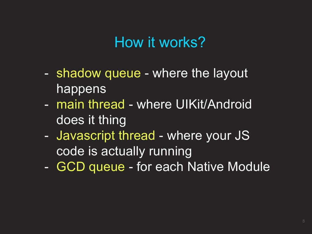 - shadow queue - where the layout happens - mai...