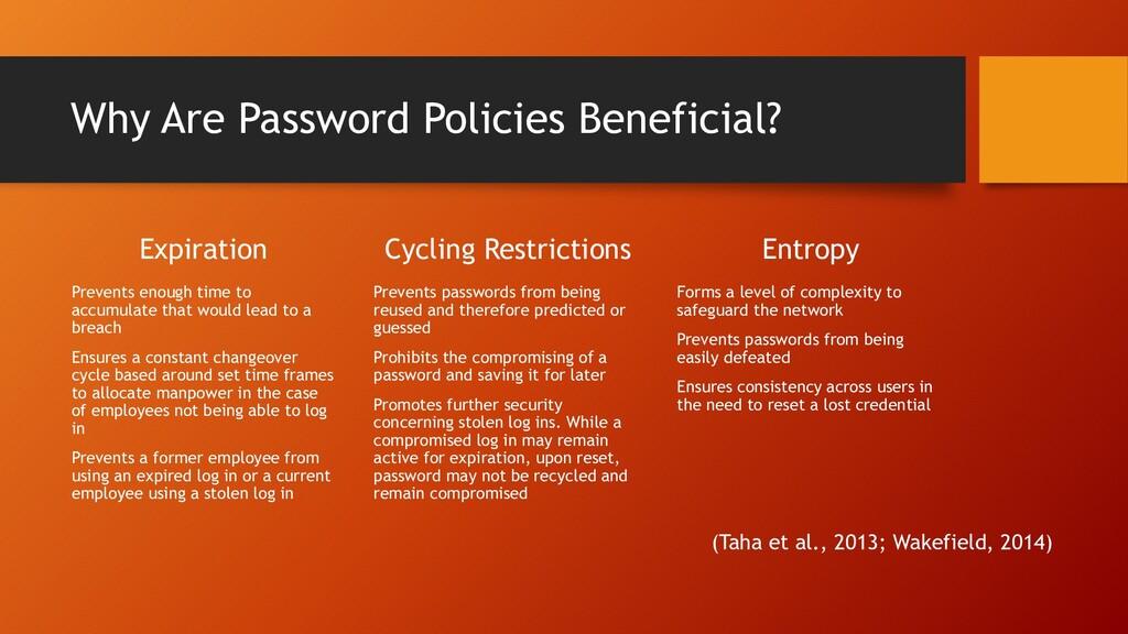 Why Are Password Policies Beneficial? Expiratio...