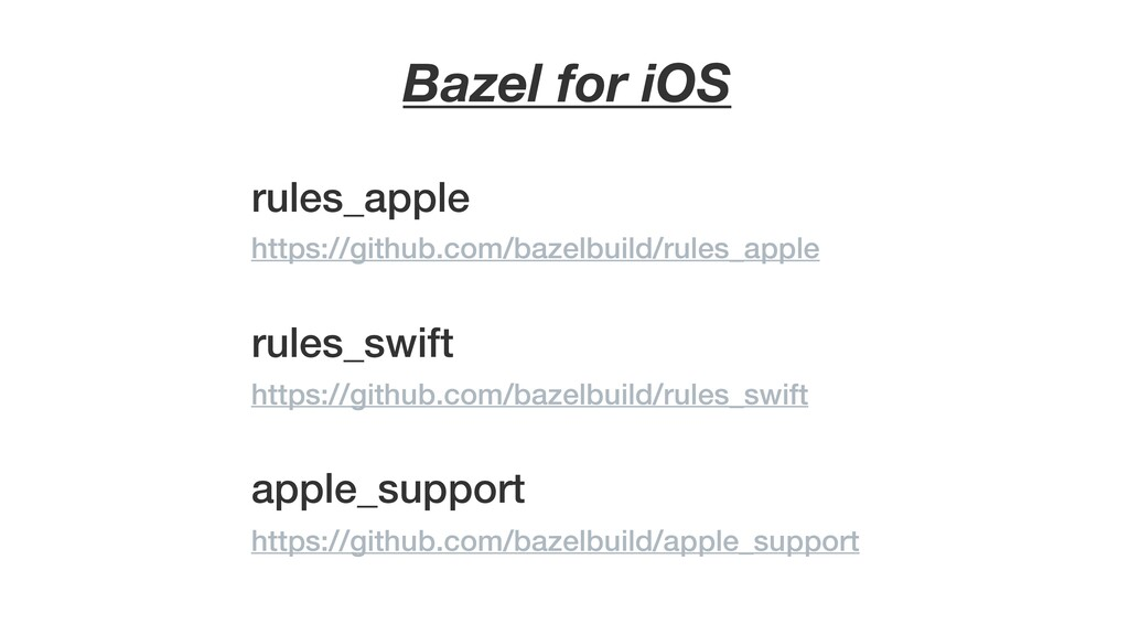 Bazel for iOS rules_apple rules_swift apple_sup...