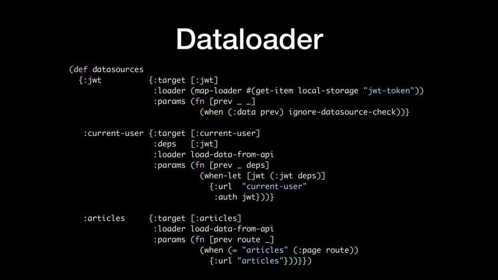 Dataloader (def datasources {:jwt {:target [:jw...