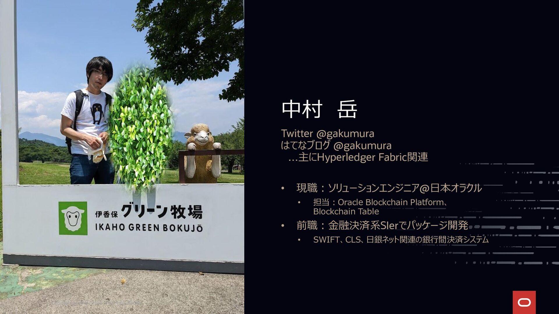 中村 岳 Twitter @gakumura はてなブログ @gakumura …主にHype...