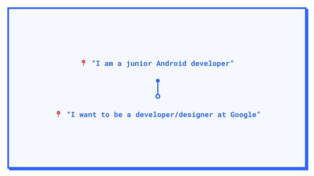 """I am a junior Android developer""  ""I want to ..."