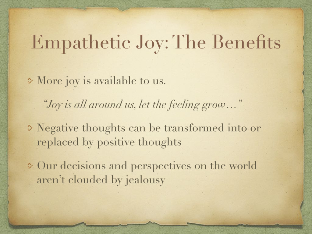 Empathetic Joy: The Benefits More joy is availab...