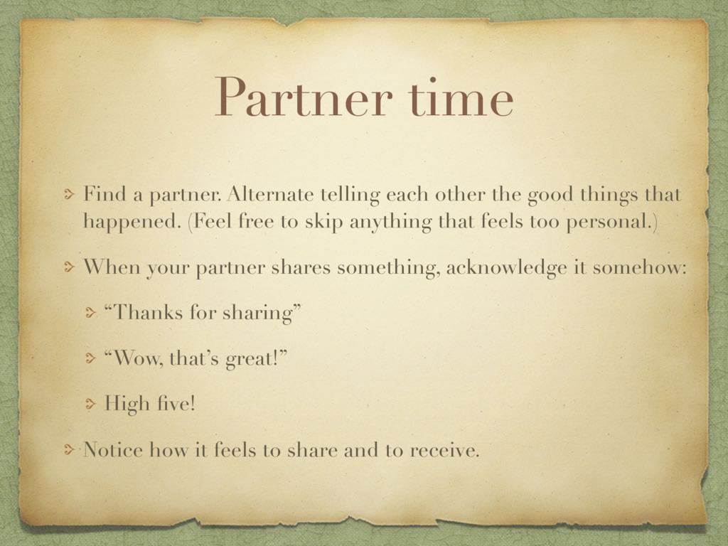 Partner time Find a partner. Alternate telling ...