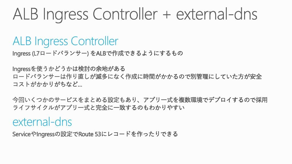 ALB Ingress Controller external-dns