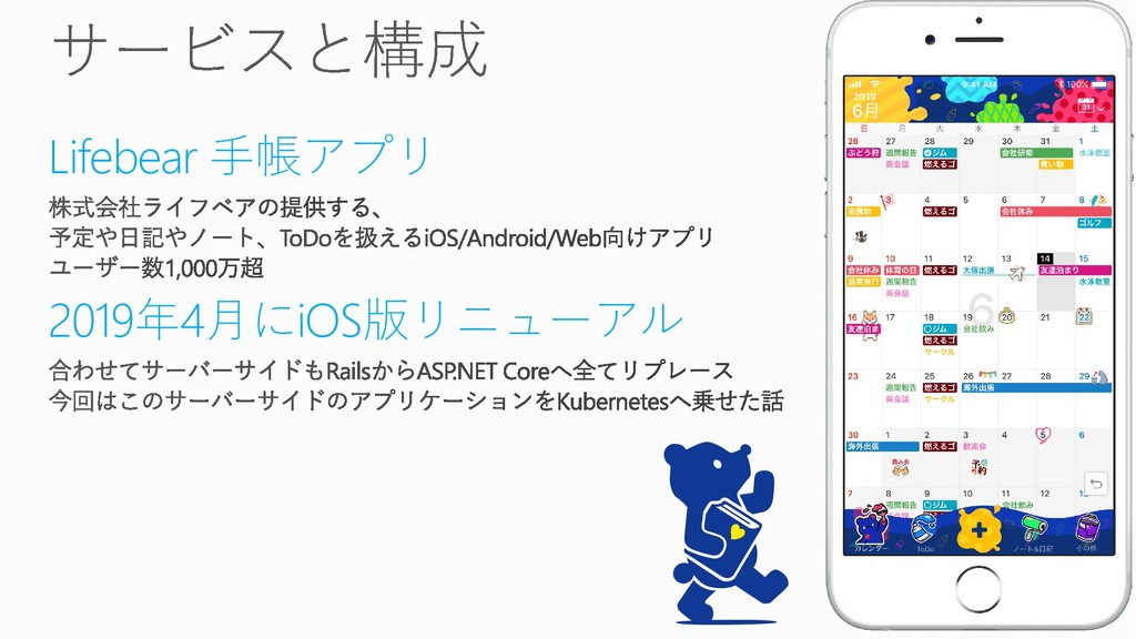 Lifebear 手帳アプリ 2019年4月にiOS版リニューアル