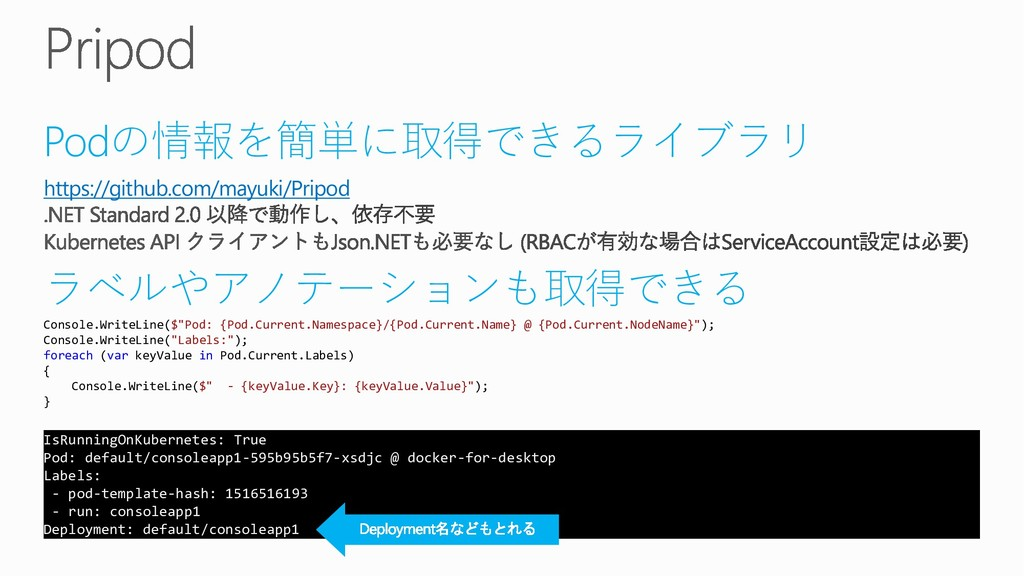 Podの情報を簡単に取得できるライブラリ https://github.com/mayuki/...