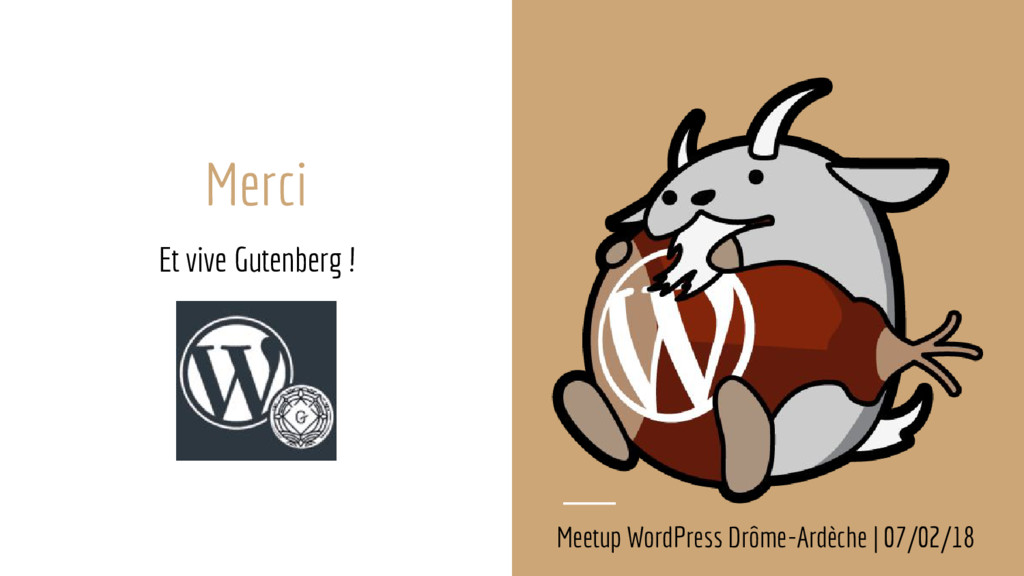Merci Et vive Gutenberg ! Meetup WordPress Drôm...