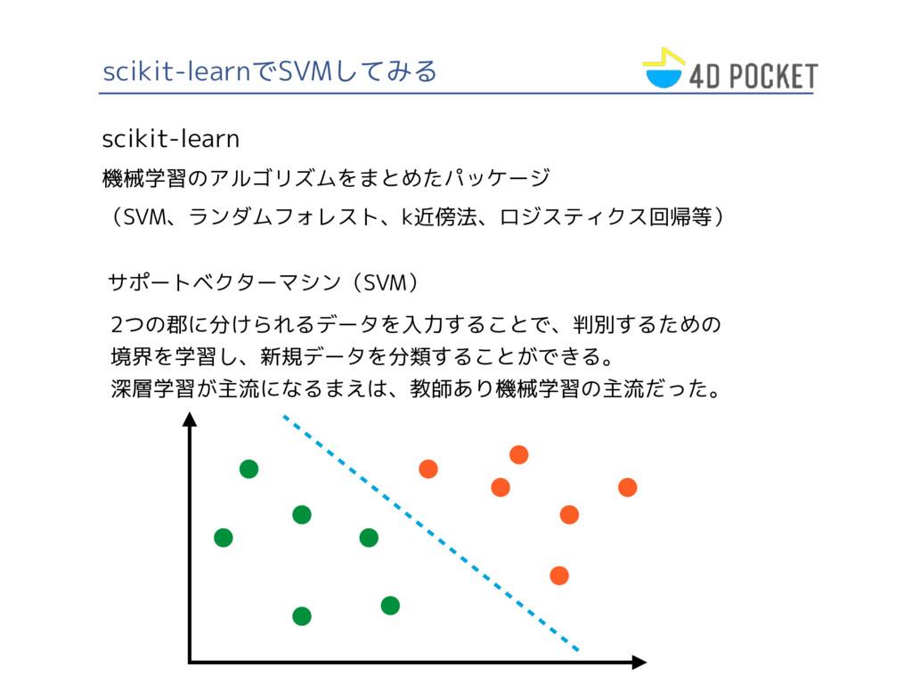 scikit-learnでSVMしてみる scikit-learn 機械学習のアルゴリズムをま...
