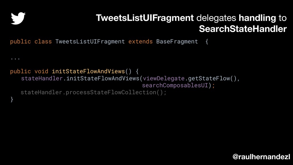 TweetsListUIFragment delegates handling to Sear...