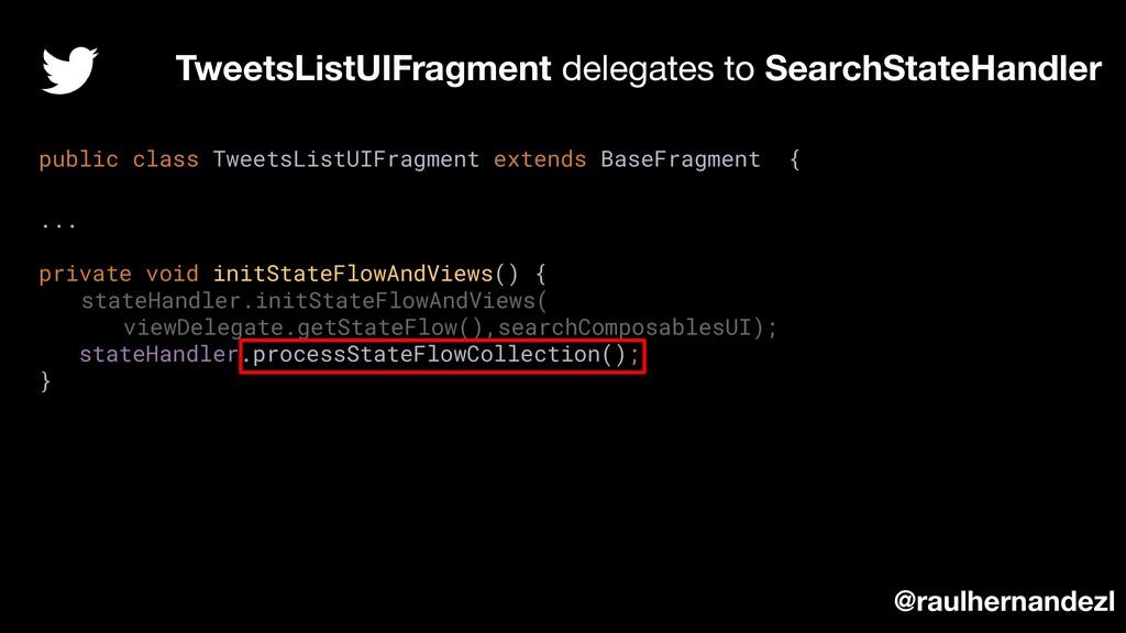 TweetsListUIFragment delegates to SearchStateHa...
