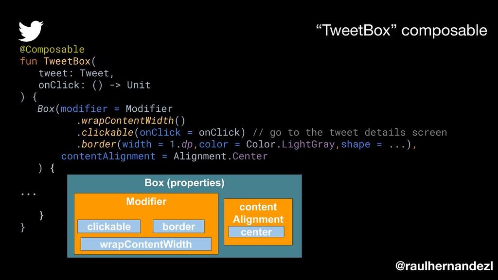 """TweetBox"" composable @raulhernandezl @Composab..."