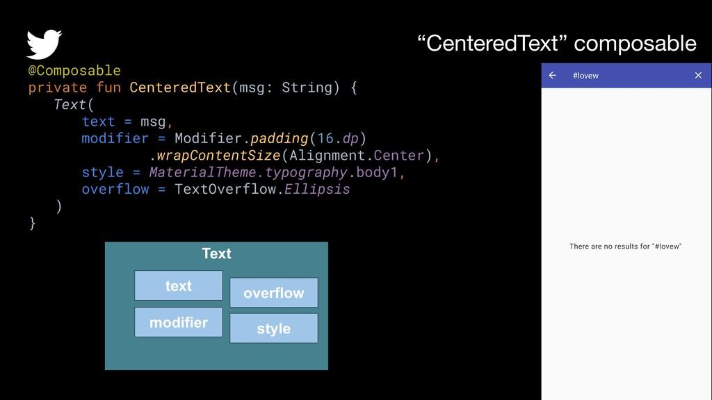 """CenteredText"" composable @raulhernandezl @Comp..."