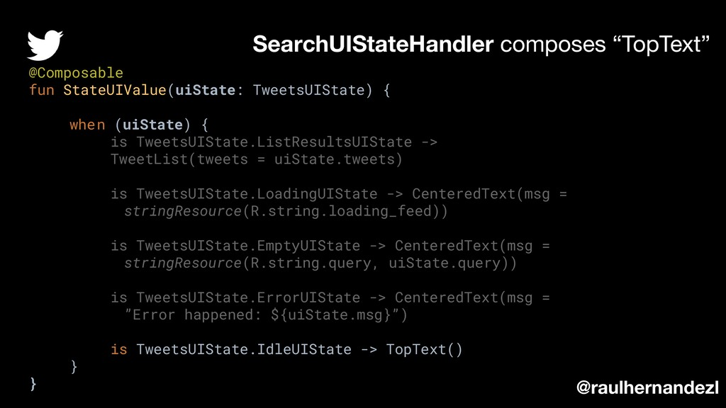 @Composable fun StateUIValue(uiState: TweetsUIS...