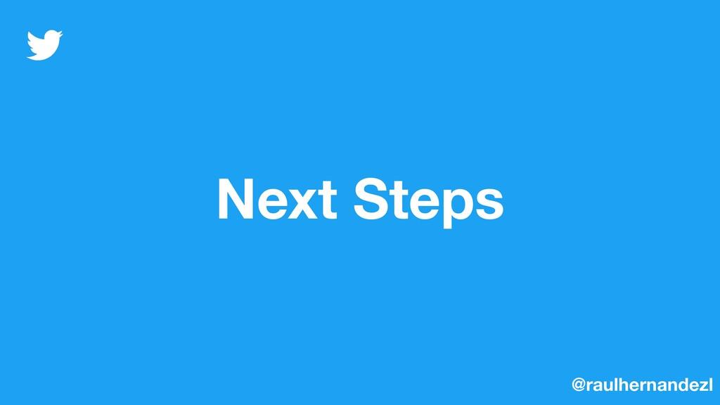 Next Steps @raulhernandezl