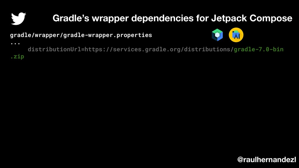 Gradle's wrapper dependencies for Jetpack Compo...