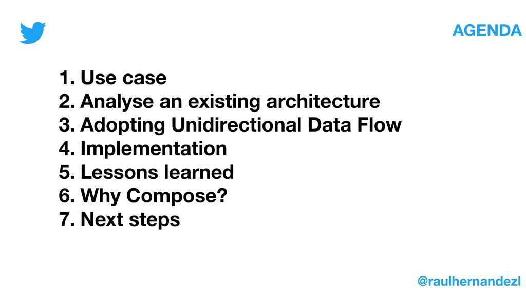 1. Use case 2. Analyse an existing architecture...