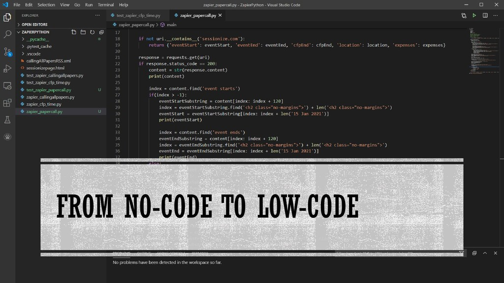 FROM NO-CODE TO LOW-CODE