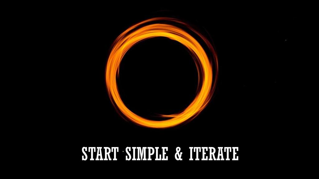 START SIMPLE & ITERATE