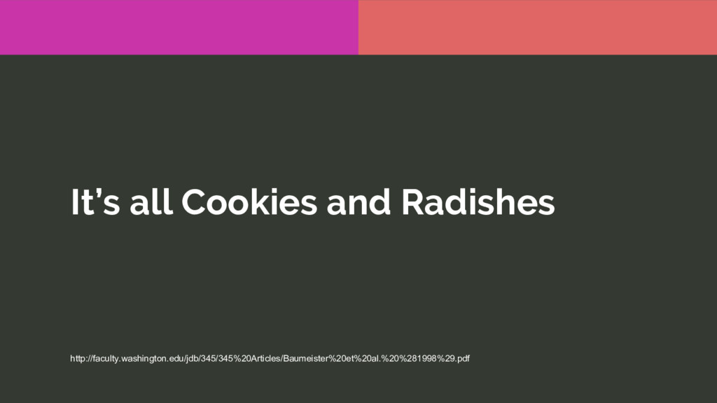 It's all Cookies and Radishes http://faculty.wa...