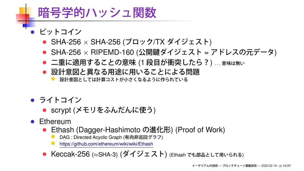 SHA-256 × SHA-256 ( /TX ) SHA-256 × RIPEMD-160 ...