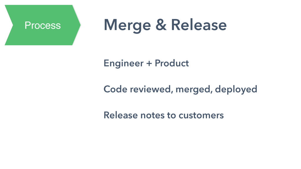 Process Merge & Release Engineer + Product Code...