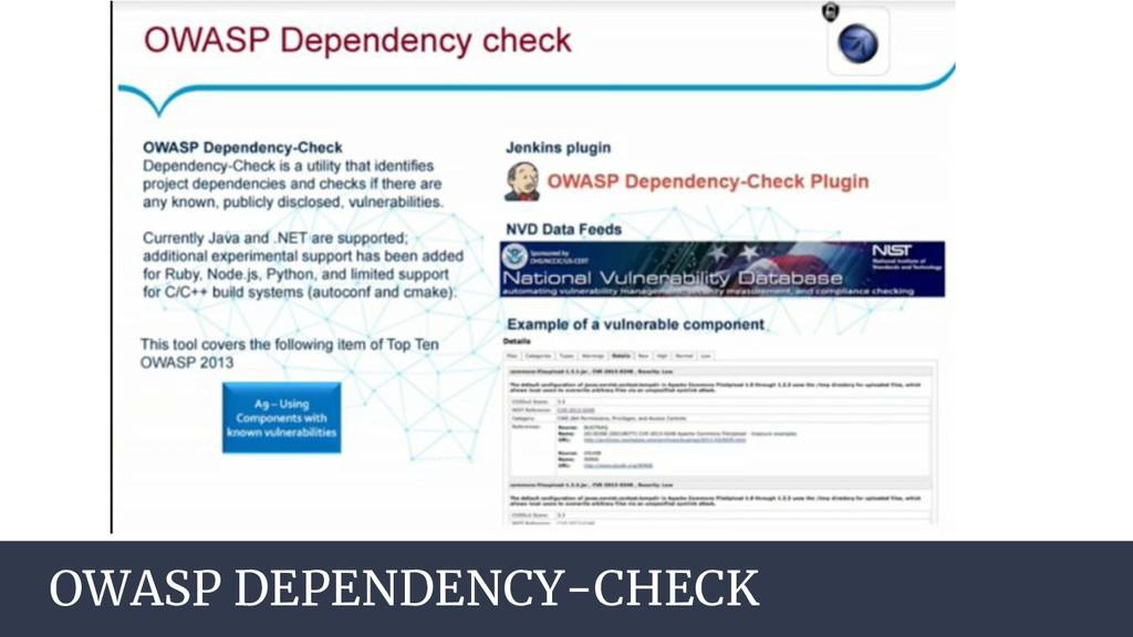 AGENDA OWASP DEPENDENCY-CHECK
