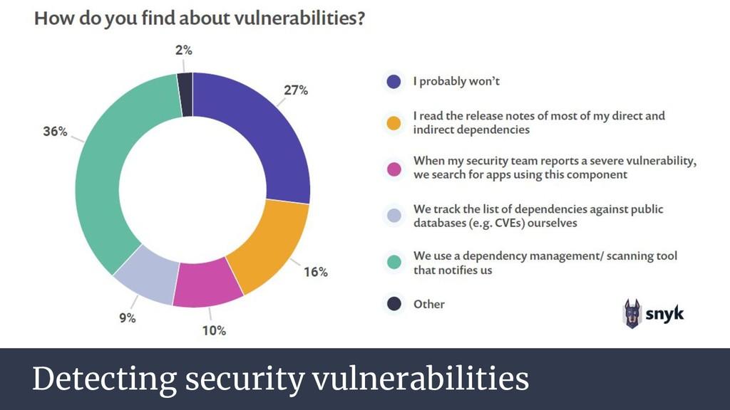 Detecting security vulnerabilities