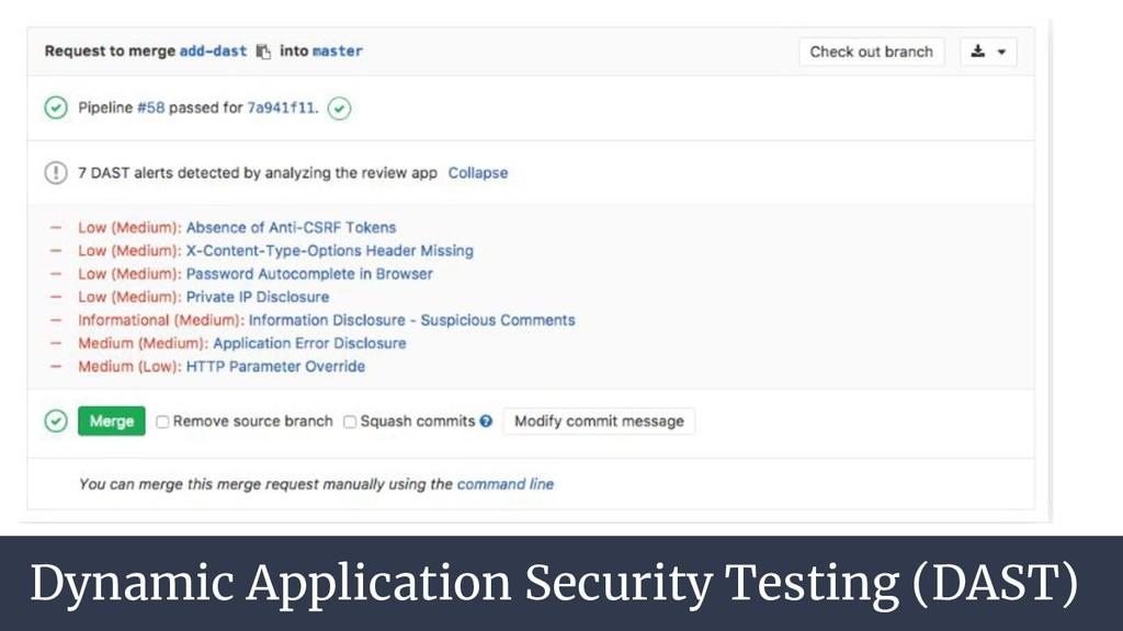 Dynamic Application Security Testing (DAST)