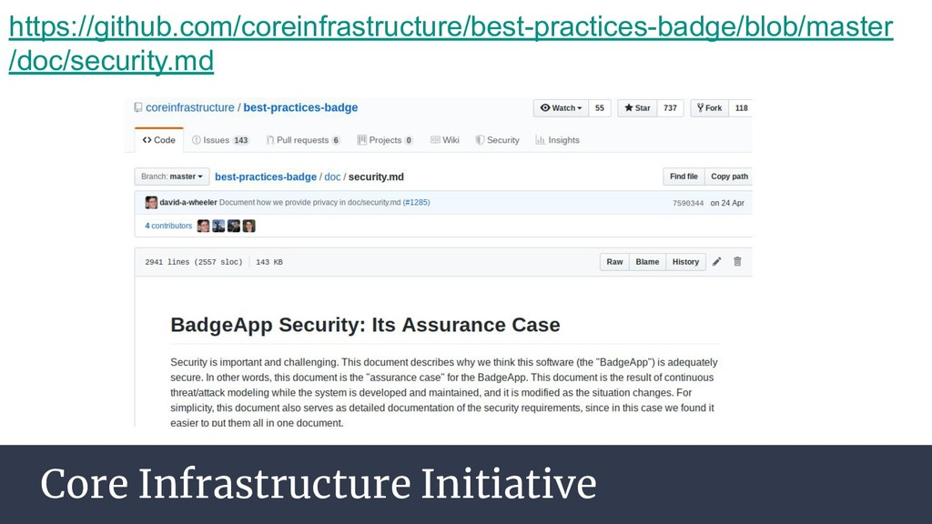 Core Infrastructure Initiative https://github.c...