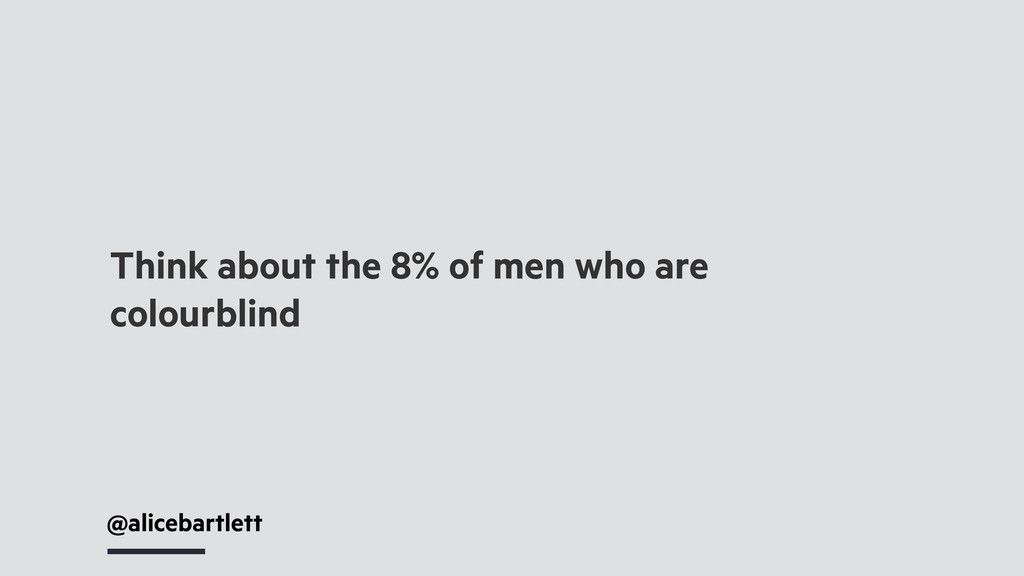 @alicebartlett Think about the 8% of men who ar...