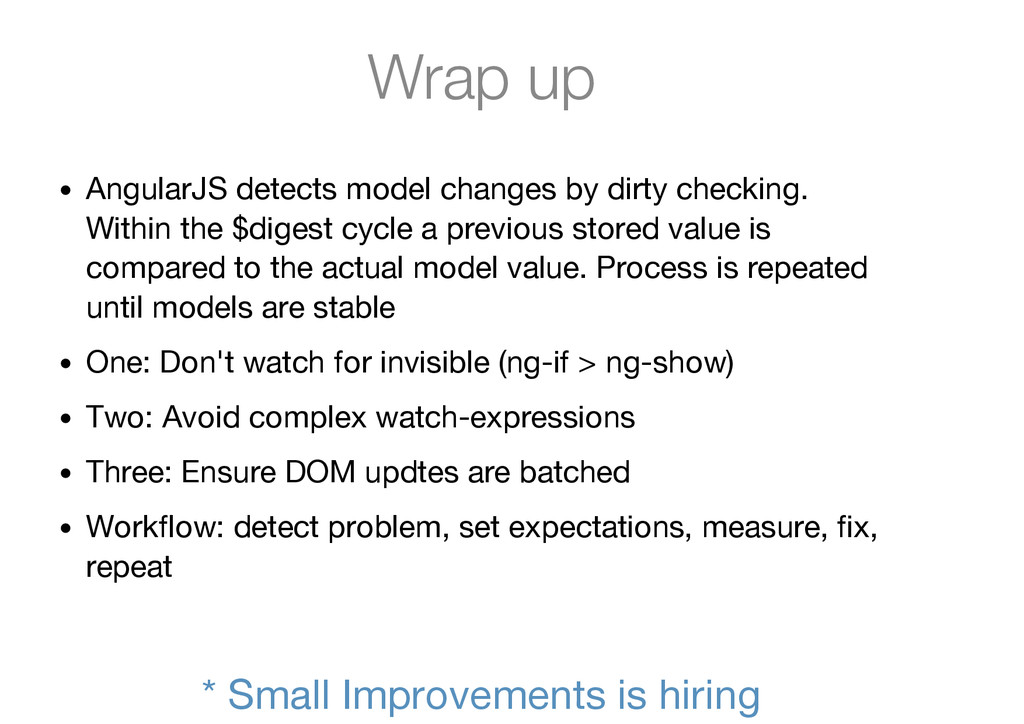 Wrap up AngularJS detects model changes by dirt...