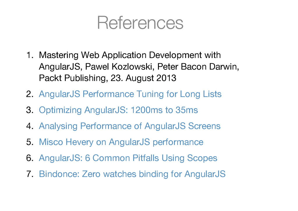 References 1. Mastering Web Application Develop...