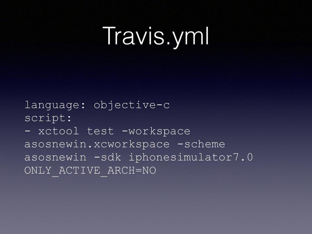 Travis.yml language: objective-c script: - xcto...