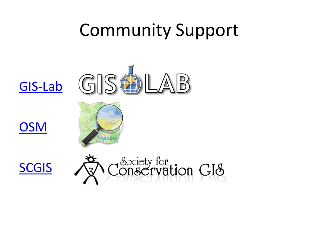 Community Support GIS-Lab OSM SCGIS