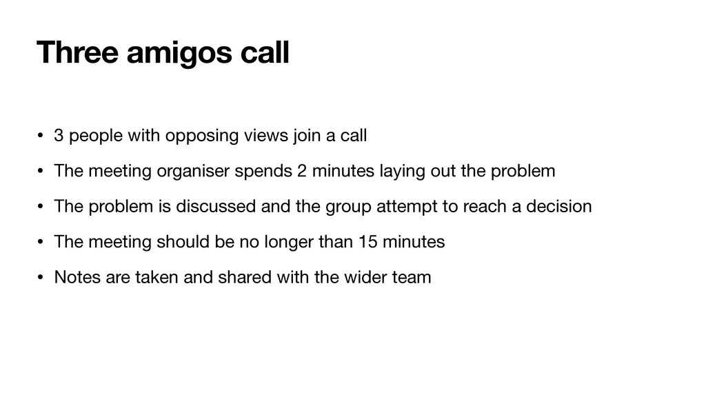 Three amigos call • 3 people with opposing view...