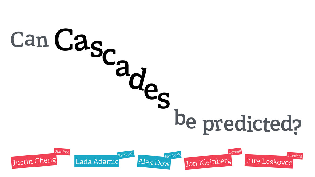 Can Cascades be predicted? Justin Cheng Lada Ad...