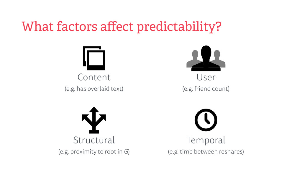 What factors affect predictability? Content