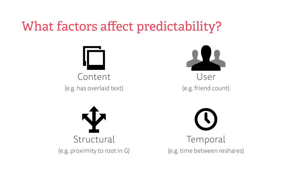 What factors affect predictability? Content (e....