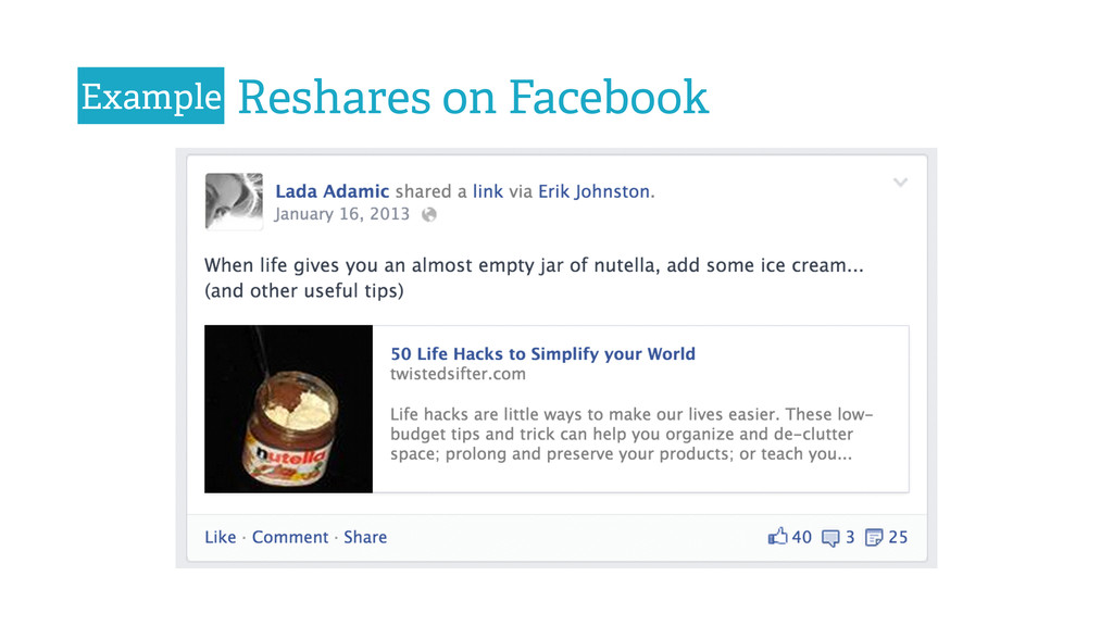 Reshares on Facebook Example
