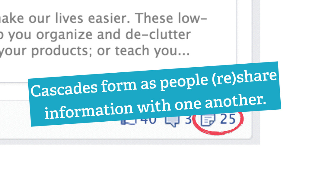Cascades form as people (re)share information w...