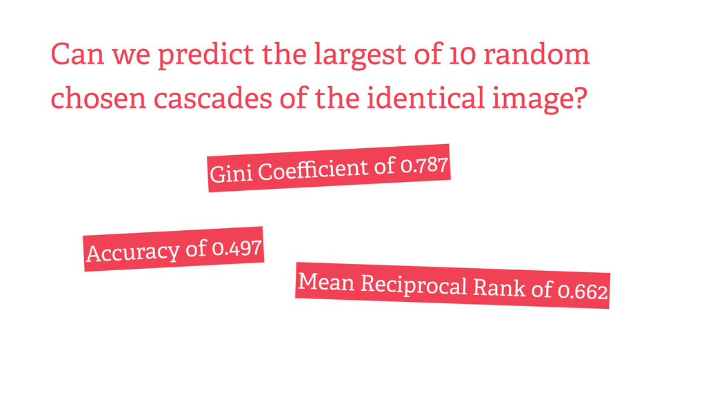 Can we predict the largest of 10 random chosen ...